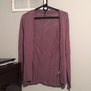 Maurices Lavender Cardigan with Knit Back. Size: S